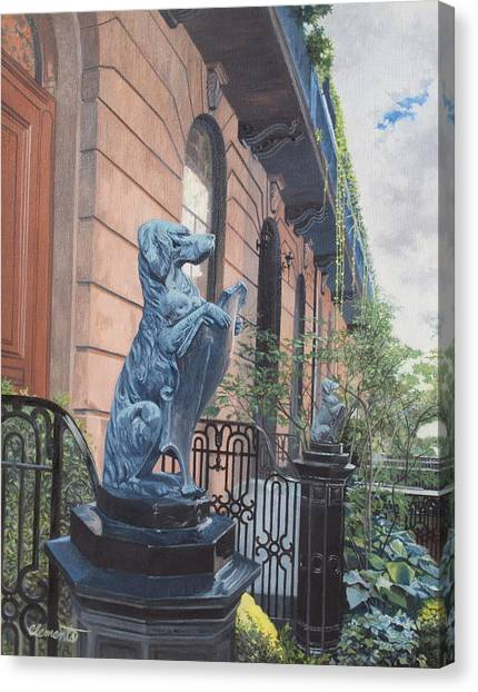 The Dogs On West Tenth Street, New York, Ny  Canvas Print