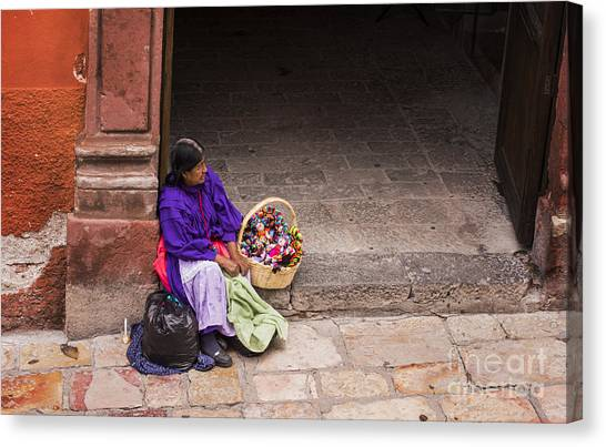 Architectural Detail Canvas Print - The Doll Peddler by Juli Scalzi
