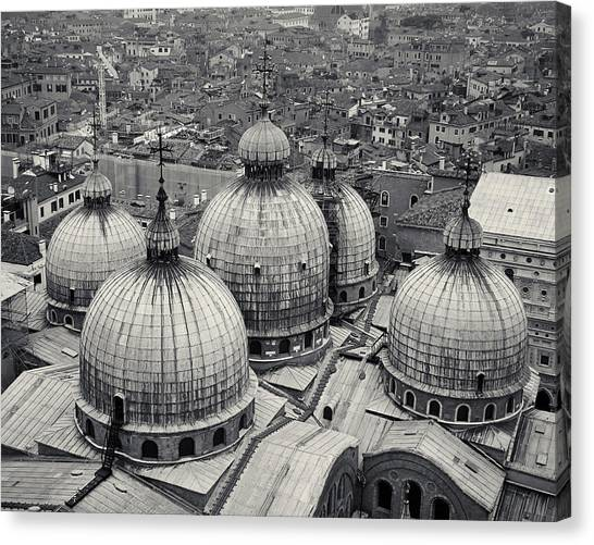 The Domes Of San Marco, Venice, Italy Canvas Print
