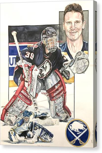 Buffalo Sabres Canvas Print - the Dominator by Kieran Hassey