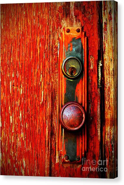 Lock Canvas Print - The Door Handle  by Tara Turner