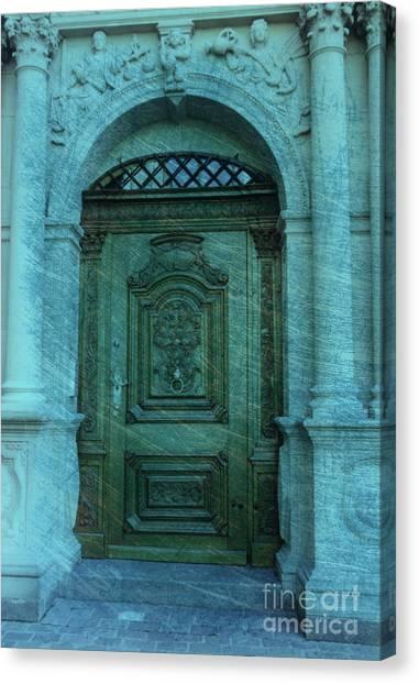 The Door To The Secret Canvas Print