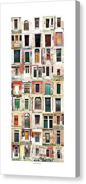 The Doors Of Murano Italy Canvas Print