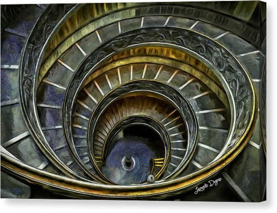 Michelangelo Canvas Print - The Double Spiral by Leonardo Digenio