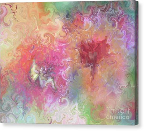 The Dragon And The Faerie Canvas Print