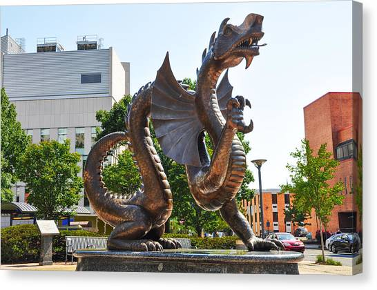 Caa Canvas Print - The Dragon - Drexel University by Bill Cannon
