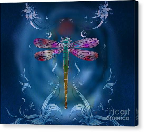 The Dragonfly Effect Canvas Print by Peter Awax