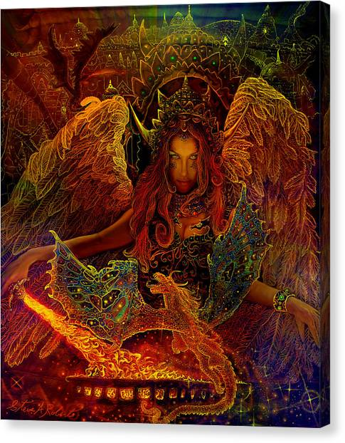 The Dragons Spell Canvas Print