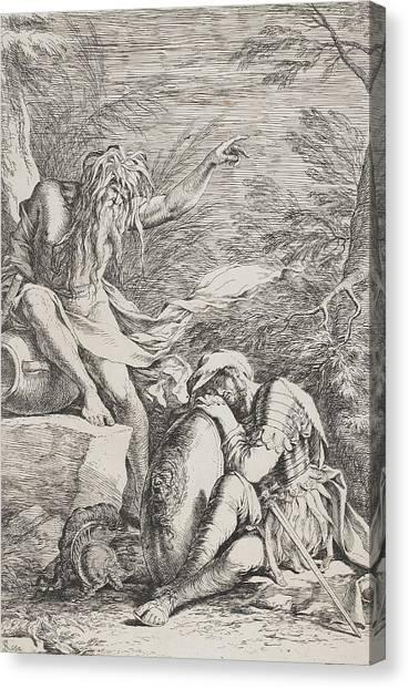 Long Hair Canvas Print - The Dream Of Aeneas by Salvator Rosa