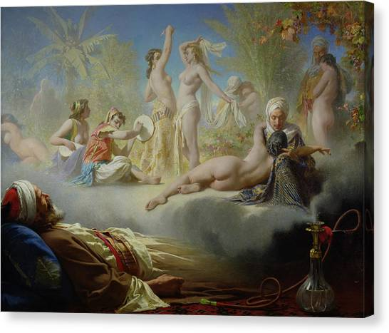Muslim Canvas Print - The Dream Of The Believer by Achille Zo