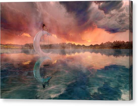 Escape Canvas Print - The Dreamery  by Betsy Knapp