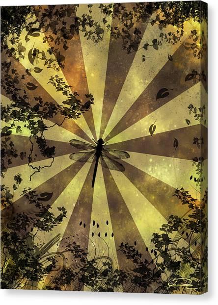 The Dreams Of The Dragonflies Canvas Print by Emma Alvarez