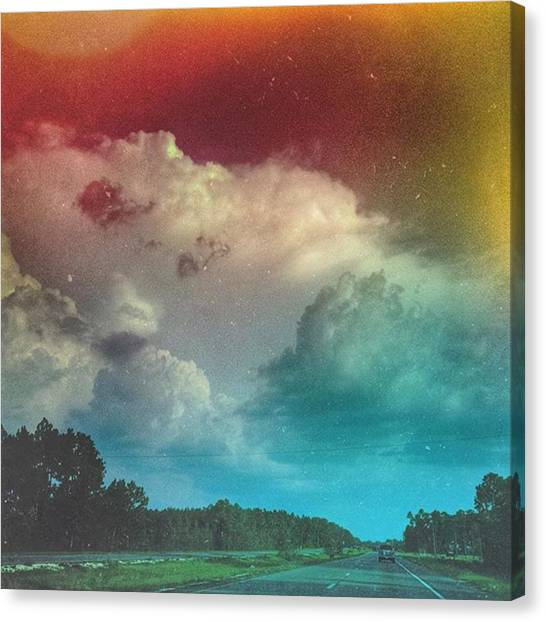 Roads Canvas Print - The Drive Home... #road #cloudscape by Joan McCool