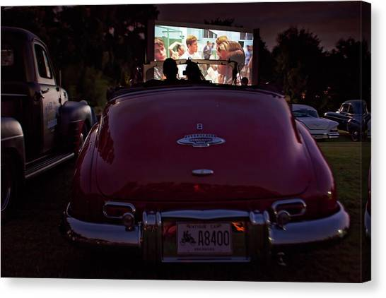 The Drive- In Canvas Print