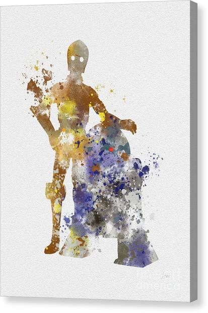 Droid Canvas Print - The Droids by Rebecca Jenkins