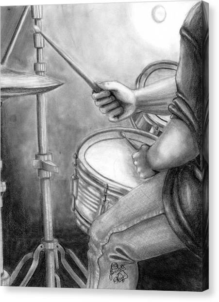 The Drummer Canvas Print by Scarlett Royal