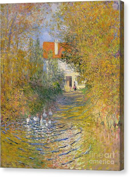 Painters Canvas Print - The Duck Pond by Claude Monet