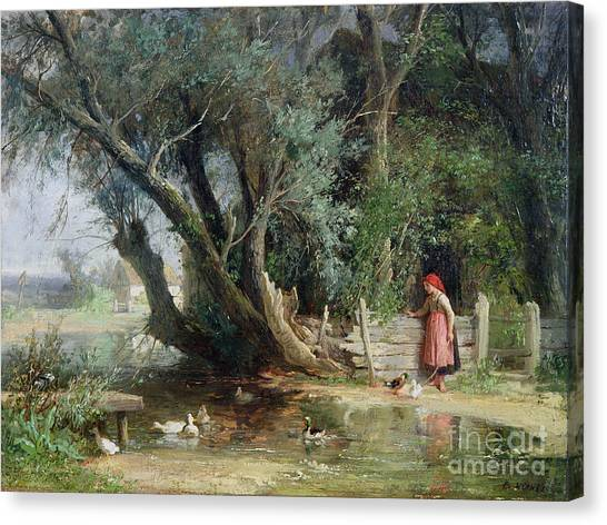Wetlands Canvas Print - The Duck Pond by Eduard Heinel