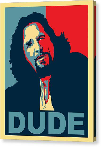 Obama Poster Canvas Print - The Dude Abides by Christian Broadbent