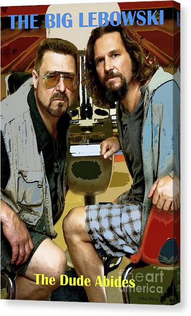 University Of Missouri Canvas Print - The Dude Abides, The Big Lebowski by Thomas Pollart