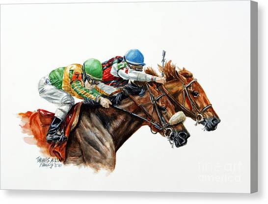 Horseracing Canvas Print - The Duel by Thomas Allen Pauly