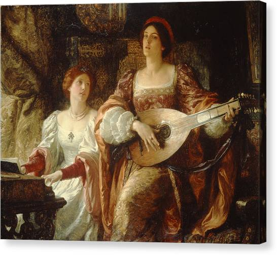 The Duet Canvas Print by Sir Frank Dicksee