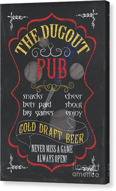Pub Canvas Print - The Dugout Pub by Debbie DeWitt