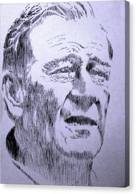 The Duke Canvas Print by Robbi  Musser