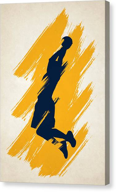 Indiana Pacers Canvas Print - The Dunk by Joe Hamilton