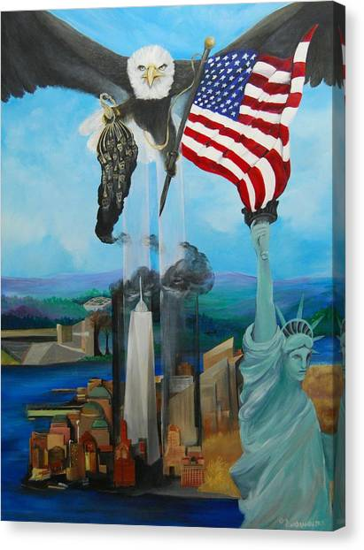 The Eagle Canvas Print by Amy Stewart Hale