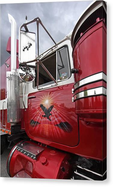 Truck Driver Canvas Print - The Eagle Is Landing by Gill Billington