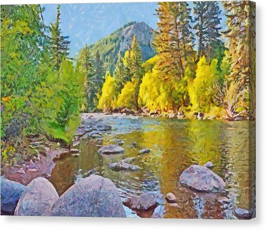 The Eagle River In October Canvas Print