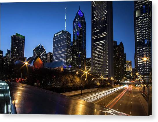 The East Side Skyline Of Chicago  Canvas Print