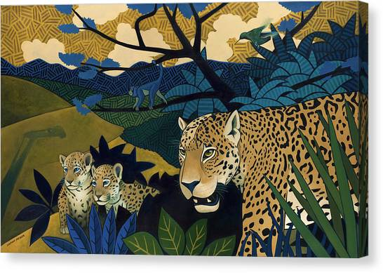 Monkeys Canvas Print - The Edge Of Paradise by Nathan Miller