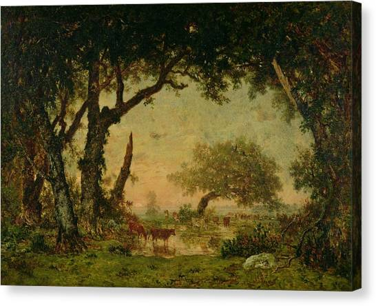 67 Canvas Print - The Edge Of The Forest At Fontainebleau by Theodore Rousseau
