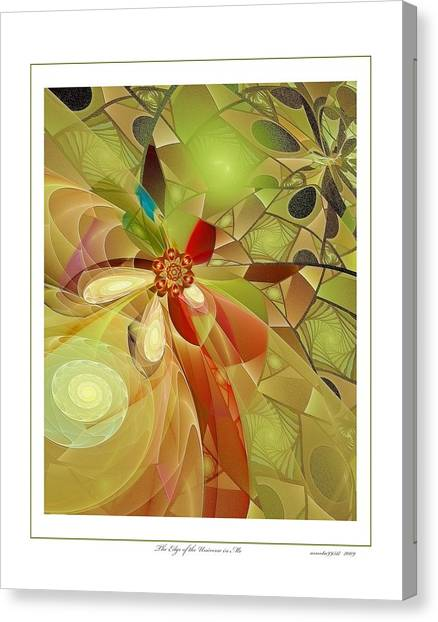 The Edge Of The Universe In Me Canvas Print by Gayle Odsather