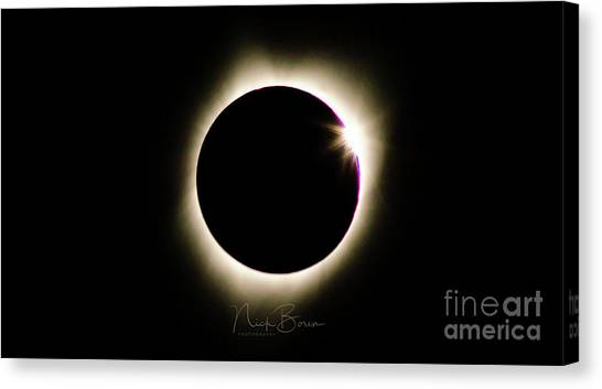 The Edge Of Totality 2 Canvas Print