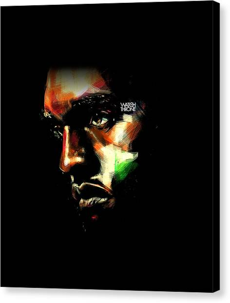 Floyd Mayweather Canvas Print - The Effects Of Insomnia by Robert Gils