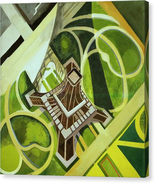 Divisionism Canvas Print - The Eiffel Tower And The Champ De Mars Gardens by Robert Delaunay