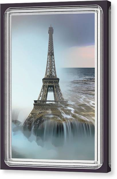 The Eiffel Tower In Montage Canvas Print