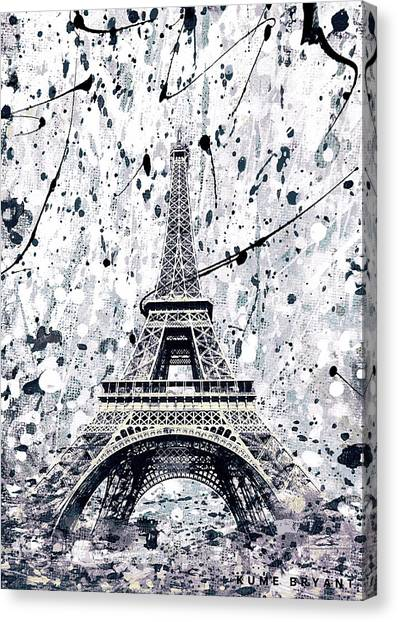 Sightseeing Canvas Print - The Eiffel Tower by Kume Bryant