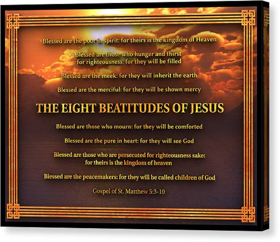 The Eight Beatitudes Of Jesus Canvas Print