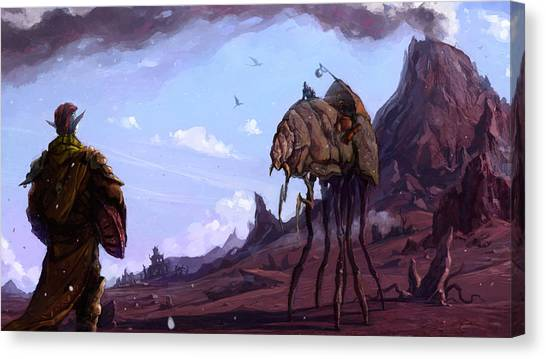 Vultures Canvas Print - The Elder Scrolls IIi Morrowind by Maye Loeser