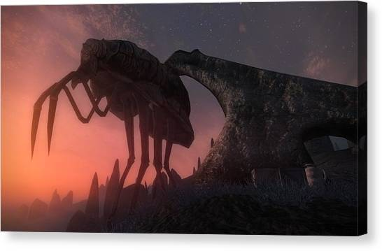 Triceratops Canvas Print - The Elder Scrolls by Maye Loeser