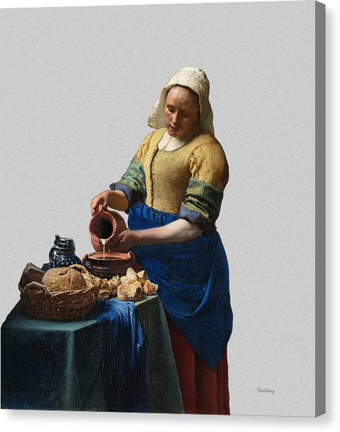 The Elegance Of The Kitchen Maid Canvas Print