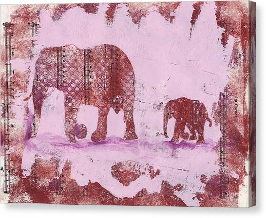 The Elephant March Canvas Print