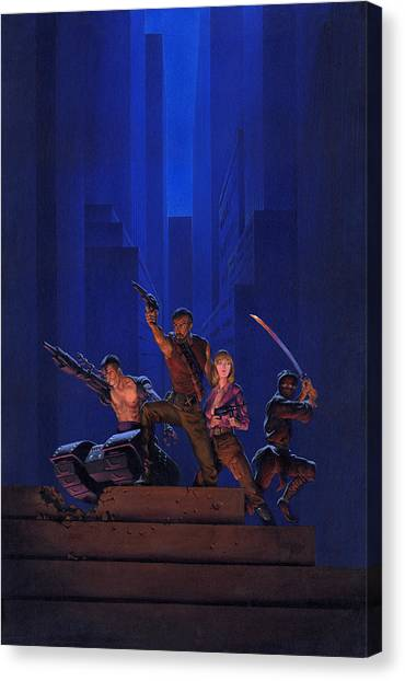 Aliens Canvas Print - The Eliminators by Richard Hescox