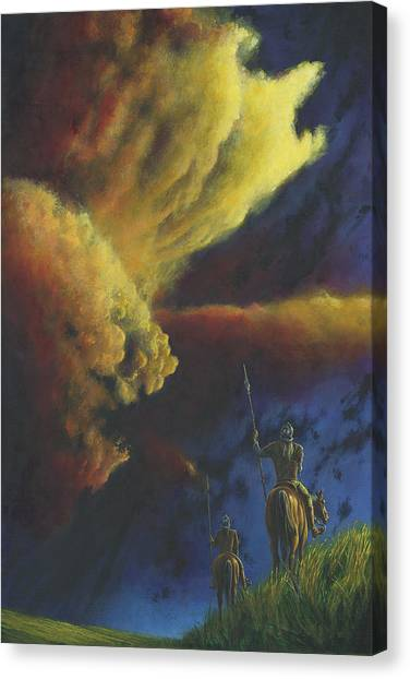 Canvas Print featuring the painting The Elven Watch On Ard-galen by Kip Rasmussen
