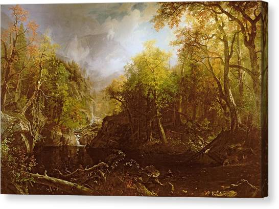 Cloud Forests Canvas Print - The Emerald Pool by Albert Bierstadt