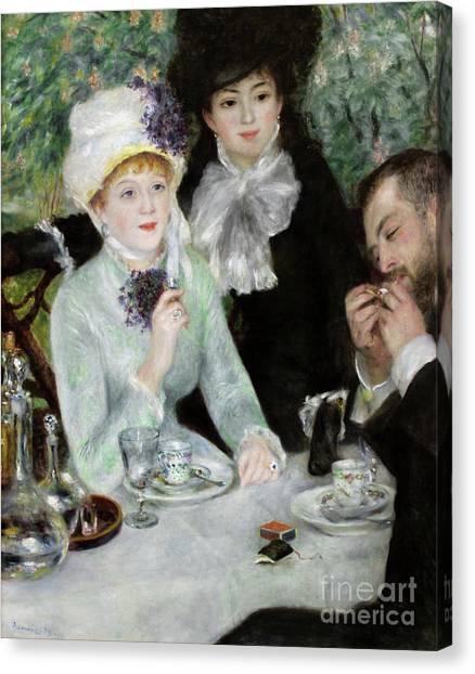 Pierre-auguste Renoir Canvas Print - The End Of Luncheon, 1879 by Pierre Auguste Renoir